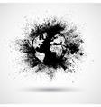 Splattered World Black vector image