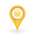Sunshine Location vector image