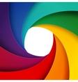 Swirly rainbow paper layers background vector image