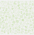 tea seamless background with thin line icons vector image vector image