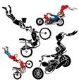 Teens on motorbikes vector image vector image