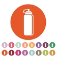 The sports water bottle icon Bottle symbol Flat vector image vector image
