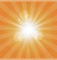 The sun radiation retro orange background vintage