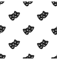 Theater masks icon in black style isolated on vector image
