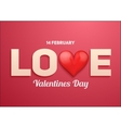 Valentines day background with Love and heart vector image vector image