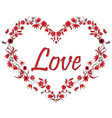Valentines Love Heart Shape with drawing effect vector image vector image