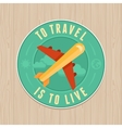 vintage badge - flat icon Travel concept vector image vector image
