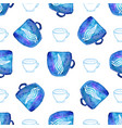 watercolor seamless pattern with cups seamless vector image vector image
