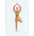 yoga pose womans vector image