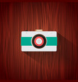 retro camera flat icon for web design and mobile vector image