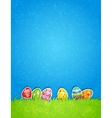 Easter egg and blue sky vector image