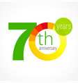 70 anniversary chart logo vector image vector image