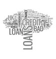 a borrower s guide to bad credit loans uk text vector image vector image