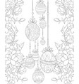 adult coloring bookpage the easter eggs on the vector image vector image