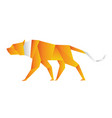 an origami tiger orange color vector image