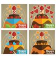 birthday stickers vector image vector image