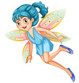 Blue fairy vector image vector image