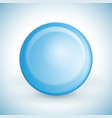 blue sphere for your design vector image