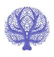 blue symmetrical fan coral tropical reef marine vector image