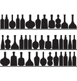 Bottles on shelves vector image