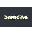 branding word text logo design green blue white vector image vector image