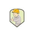 Builder Construction Worker Thumbs Up Circle vector image vector image
