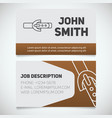business card print template with leather belt
