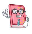 businessman diary character cartoon style vector image