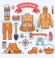 camping and hiking vector image