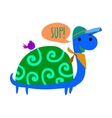 Cartoon ghost turtle flat mascot icon vector image vector image