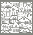 city pattern silhouette vector image vector image