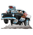 classic american fifties style hot rod funny car vector image