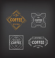 Coffee menu logo template vintage geometric badge vector image vector image