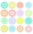 collection decorative elements vector image
