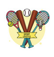 colorful poster of sport lifestyle with baseball vector image vector image