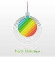 Creative Christmas Ball Greeting Card vector image