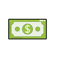 dollar bill cash money icon vector image