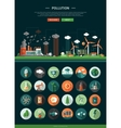 Flat design ecological icons with header and vector image vector image