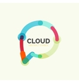 Flat linear design speech cloud logo Talk bubble vector image