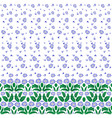 floral pattern with border vector image vector image