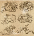 Food around the World hand drawn set vector image vector image