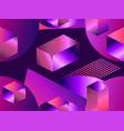 geometric shapes in isometric style with gradient vector image vector image