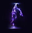 half transparent lightning bolt on dark background vector image