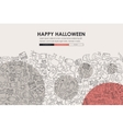 Halloween Doodle Website Template Design vector image vector image