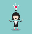 happy businesswoman with idea vector image