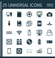 hardware icons set collection of loudspeakers vector image