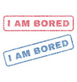 i am bored textile stamps vector image vector image