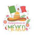 independence mexican day vector image vector image