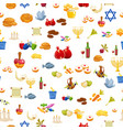 jewish holiday hanukkah seamless background vector image