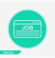 job icon sign symbol vector image